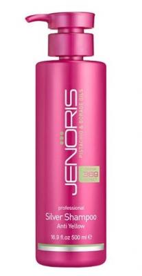 Шампунь нейтрализующий желтизну волос Jenoris Silver Shampoo 500 мл: фото