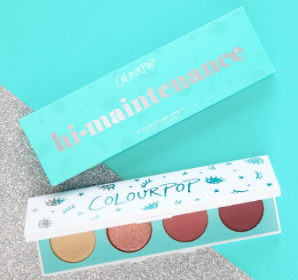 "Палетка теней ColourPop (4 цвета) Pressed Powder Shadow Palette ""Hi-maintenance"": фото"