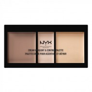ПАЛЕТКА ДЛЯ скульптурирования NYX Professional Makeup CREAM HIGHLIGHT AND CONTOUR PALETTE - LIGHT 01: фото
