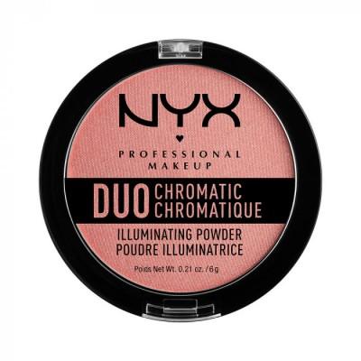 Сухой хайлайтер NYX Professional Makeup DUO CHROMATIC ILLUMINATING POWDER - CRUSHED BLOOM: фото