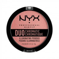 Сухой хайлайтер NYX Professional Makeup DUO CHROMATIC ILLUMINATING POWDER - CRUSHED BLOOM: фото