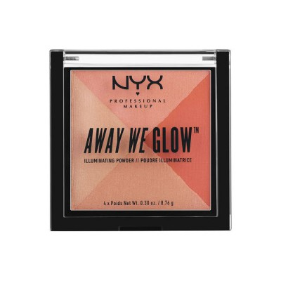 Сухой ХАЙЛАЙТЕР NYX Professional Makeup AWAY WE GLOW ILLUMINATING POWDER - SUMMER REFLECTION 01: фото