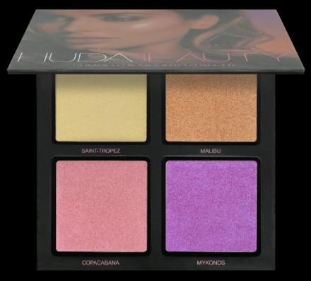 Палетка хайлайтеров Huda Beauty 3D HIGHLIGHTER PALETTE – SUMMER SOLSTICE: фото