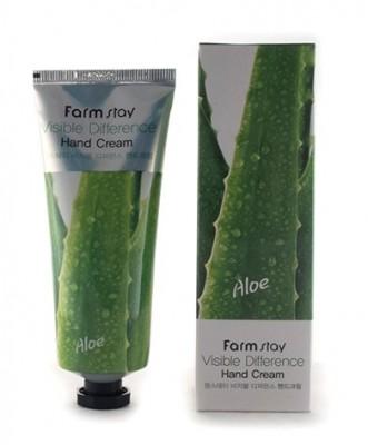 Крем для рук с экстрактом алоэ FARMSTAY Visible differerce hand cream aloe 100 мл: фото