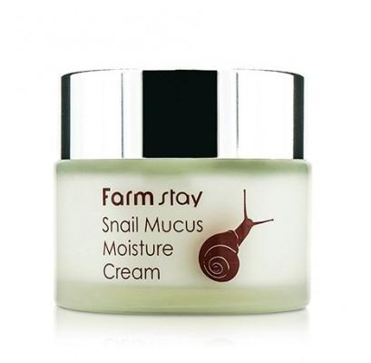 Увлажняющий крем с экстрактом улитки FARMSTAY Snail mucus moisture cream 50 г: фото