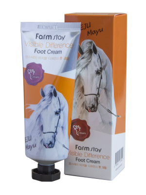 Крем для ног с лошадиным маслом FARMSTAY Visible Difference Foot Cream Jeju Mayu 100мл: фото