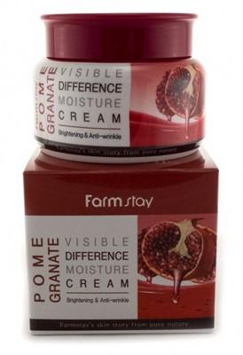 Крем для лица увлажняющий с экстрактом граната FARMSTAY Visible differerce moisture cream (granate) 100г: фото