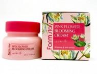 Крем для лица с экстрактом водяной лилии FARMSTAY Pink flower blooming cream water lily 100 мл: фото