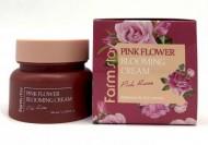 Крем для лица с экстрактом розы FARMSTAY Pink flower blooming cream pink rose 100 мл: фото