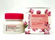 Крем для лица с экстрактом цветов вишни FARMSTAY Pink flower blooming cream cherry blossom 100 мл: фото