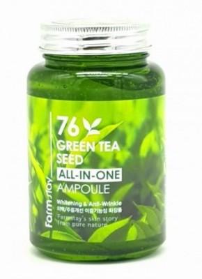 Ампульная сыворотка с зеленым чаем FARMSTAY 76 Green tea all-in one ampoule 250 мл: фото