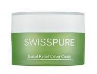 Крем дневной для чувствительной кожи с растительными экстрактами SWISSPURE Herbal relief cover cream 30 мл: фото
