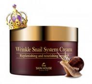 Улиточный крем антивозрастной THE SKIN HOUSE Wrinkle snail system cream 100мл: фото