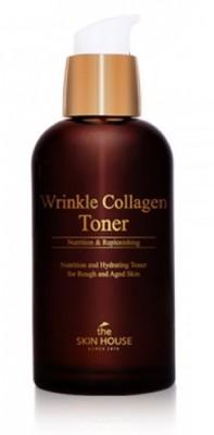 Тонер Антивозрастной с коллагеном THE SKIN HOUSE Wrinkle collagen toner 130 мл: фото