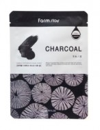 Тканевая маска с углем FARMSTAY Charcoal visible difference mask sheet 23мл: фото