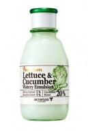 Увлажняющая эмульсия с экстрактом огурца SKINFOOD Premium Lettecure Cucumber Watery Emulsion: фото