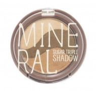 Минеральные тени для глаз SKINFOOD Mineral Sugar Triple Shadow №3 Yellow Khaki: фото