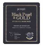 Гидрогелевая маска для лица с черным жемчугом PETITFEE Black Pearl & Gold Hydrogel Mask Pack: фото