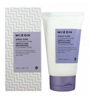 Пенка-скраб для лица MIZON Great Pure Cleansing Foam: фото