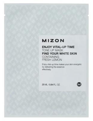 Тканевая маска осветляющая MIZON Enjoy Vital Up Time Tone Up Mask 25мл