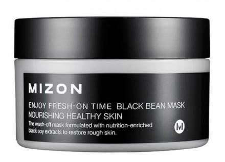Маска с черными соевыми бобами MIZON Enjoy Fresh On-Time Black Bean Mask: фото