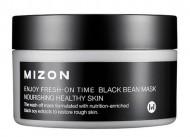 Антивозрастная маска с черными соевыми бобами MIZON Enjoy Fresh On-Time Black Bean Mask: фото