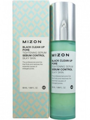 Сыворотка для сужения пор MIZON Black Clean Up Pore Tightening Serum: фото