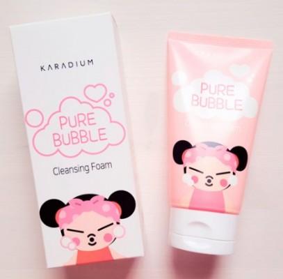 Пенка для умывания KARADIUM Pure Bubble Cleansing Foam Pucca Edition: фото