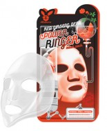 Маска тканевая с красным женьшенем ELIZAVECCA Red Ginseng Deep Power Ringer Mask Pack: фото