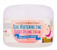 Осветляющий крем с эффектом пилинга ELIZAVECCA Milky Piggy Real Whitening Time Secret Pilling Cream: фото