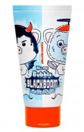 Черная кислородная маска для очищения пор ELIZAVECCA Hell-Pore Bubble Blackboom Pore Pack: фото