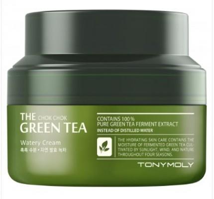 Крем для лица TONY MOLY The chok chok green tea watery cream 60 мл: фото