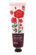 Крем для рук с розой TONY MOLY Natural green hand cream Rose 30 мл: фото