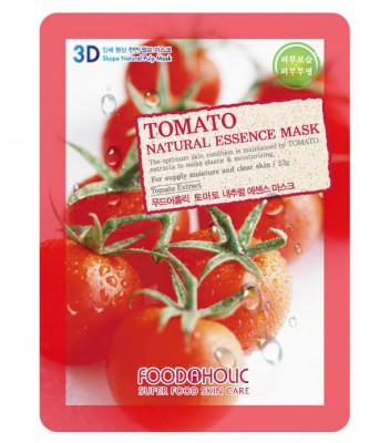 Тканевая 3D маска с томатом FoodaHolic Tomato Natural Essence Mask 23 мл: фото