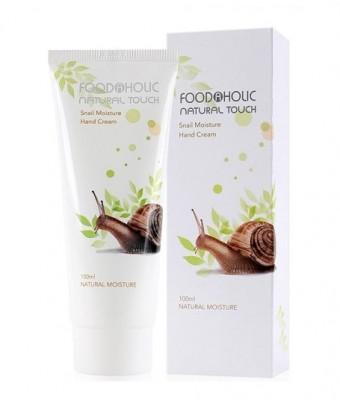 Крем для рук с экстрактом муцина улитки FoodaHolic Snail Moisture Hand Cream 100мл