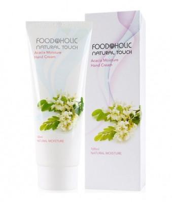 Крем для рук с экстрактом цветков акации FoodaHolic Acacia Moisture Hand Cream, 100мл, FoodaHolic