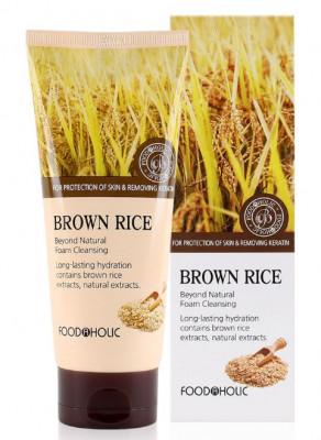Пенка для умывания с коричневым рисом FoodaHolic Brown Rice Beyond Natural Foam Cleansing 180мл
