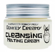 Крем для снятия макияжа ELIZAVECCA Donkey creamy cleansing melting cream 100 гр.: фото