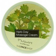 Массажный крем с экстрактом полыни THE FACE SHOP Herb day massage cream mugwort 150 мл: фото