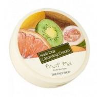 Очищающий крем с экстрактом фруктового микса THE FACE SHOP Herb day cleansing cream Fruit Mix 150 мл: фото