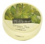 Очищающий крем с экстрактом зеленого чая THE FACE SHOP Herb day cleansing cream 150мл: фото