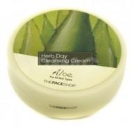 Очищающий крем с экстрактом алое THE FACE SHOP Herb day cleansing cream 150 мл: фото
