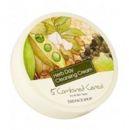 Очищающий крем с комплексом зерновых культур THE FACE SHOP Herb day cleansing cream five grain 150 мл: фото