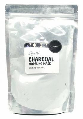 Альгинатная маска для лица с активированным углем LINDSAY charcoal modeling mask pack zipper 240г: фото