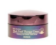 Антивозрастной крем с черным жемчугом DEOPROCE Black pearl theraphy cream 100г: фото