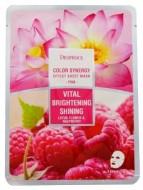 Тканевая маска с лотосом и малиной DEOPROCE Color synergy effect sheet mask pink 20г: фото