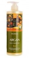 Увлажняющий бальзам с аргановым маслом DEOPROCE Rinse argan silky moisture 1000мл: фото