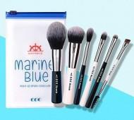 Набор из 6 кистей для макияжа CORINGCO Marine blue make-up brush collection: фото