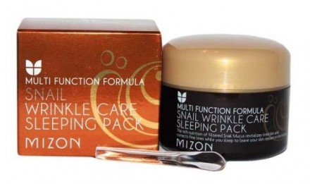Маска ночная улиточная MIZON Snail wrinkle care sleeping pack 80мл: фото
