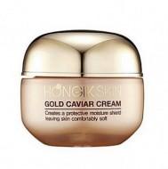 Мультифункциональный антивозрастной кремс экстрактом черной икры и золотом HONGIKSKIN Gold Caviar Cream 50г: фото